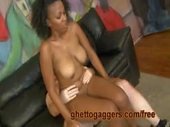 Thick Black Ass Bouncing On White Dicks
