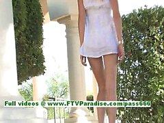 Julia naughty blonde teenage fingering and posing her gorgeous body