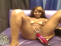 Ebony toying and creaming 56