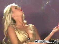 Seductive Girl Smoking XXX Porn