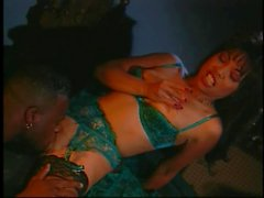 Sexy bitch gets her pussy licked and fucked then gets her face covered with cum
