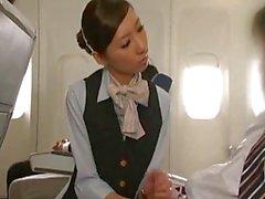 Bir handjob giving Japon hostese