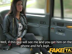 FakeTaxi Sexy brunette falls for taxi charm