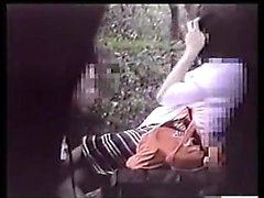 Hot Japanese teen pool side blowjob