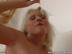 Kathy Anderson - Small Tits Blonde Screwed In