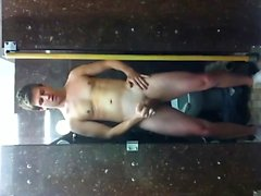 Nude in college toilet
