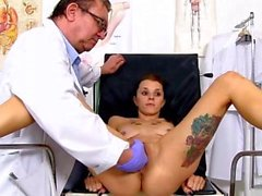 Tattoo doctor fetish and cumshot