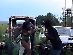 Bdsm- HornyAfrican tinayhdisteet Väärin Hot kolmikko