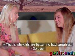 Girlfriends Playful lesbian sweethearts pussy exploring adventure