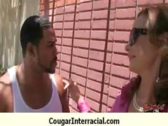 Interracial cougar hard sex 19