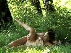 Sexy teen fucked within the woods