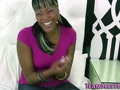 Black teen rides and tugs