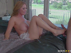 Mother I'd Like To Fuck playgirl Sunny Nash with huge knockers copulates a lot previous to concupiscent dude bust a nut in interracial porn act