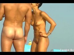 Hot pussy close ups nudist females beach voyeur