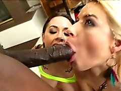Hot asses gets an interracial workout