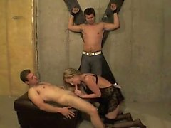 Wild threesome bdsm orgy
