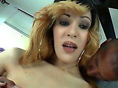 Tranny Ryder Mornroe rides a hard cock