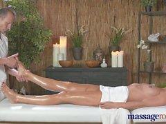 Massage Rooms Horny blonde sucks and fucks