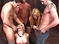 Busty blonde getting her punishment