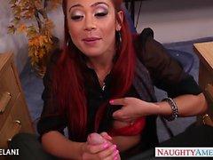 Redhead Mia Lelani fuck in the office