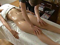 Wild ficken nach der Massage