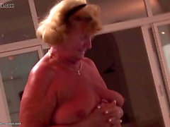 Large lesbo party with old and youthful lesbians