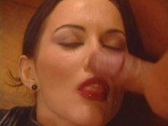 fucking her friend and faces full of cum