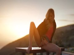 Sunset in Malibu in art finger movie