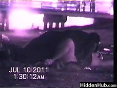 Couple Having Sex At The Beach At Night