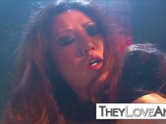 rough anal threesome with Sativa Rose and Kaiya Lynn
