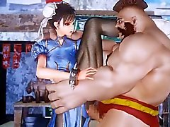Lutando Garota Chun Li
