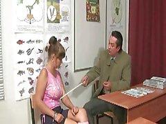European Teacher Pounds A Brunet...