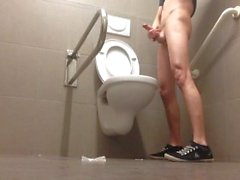 Young Gay Boy Doing Dirty Things In Public Toilet!