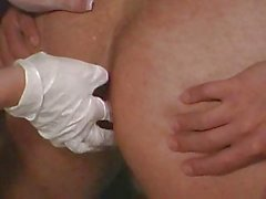 Blond Domme uses small dick guy