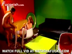 Kinky female Natasha Nice goes totally
