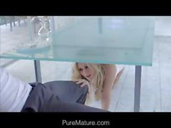 Hot blonde beauty in a passionately romantic anal encounter