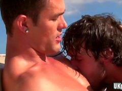 Горячие гей на открытом воздухе с Сперма