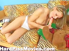 Teen Playing With Anal Dildo And Piss