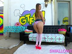 This hot scene featuring Jill Kassidy is also a wet and
