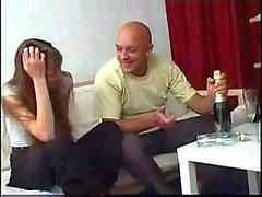 Magro dilettanti teenager della russa si ubriaca