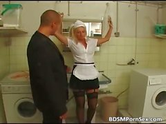 Blonde old milf got fucked and tortured