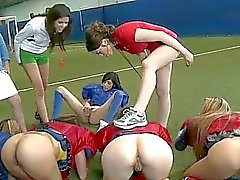 Amateur girls naked football and licking