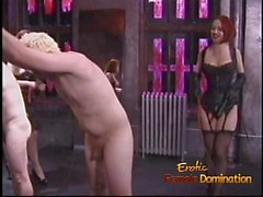 Two irresistible redhead dominas love whipping two really ho