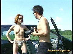 Skinny muscle redhead gets anal