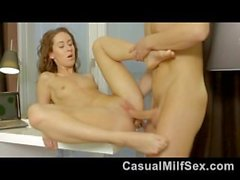 Young hottie from CasualMilfSex(dot)com fucked hard in her perfect pussy