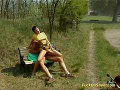 Fuck on street babe gets cock