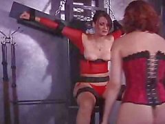 Pamela is tied up and gagged and gets tortured from her mistress