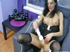 Kinky Jo Vibrator in both holes