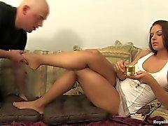 Skylar feet femdom