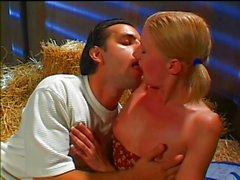 Hot farmergirl gets Italian cock